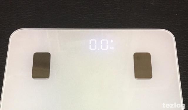 Bluetooth 体重・体組成計 1byone 表示画面