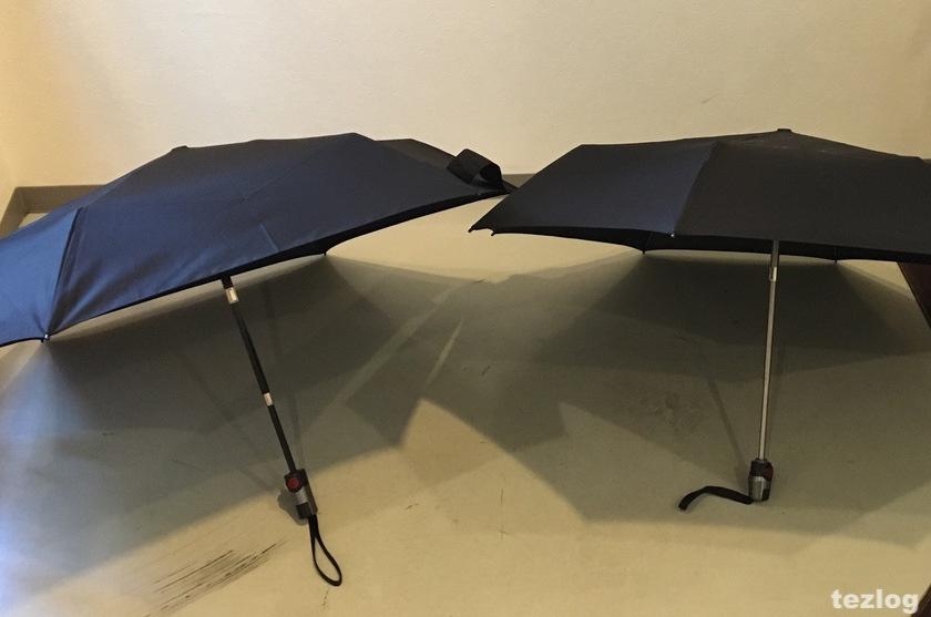 knirps 折りたたみ傘 TS.220とT.200の比較
