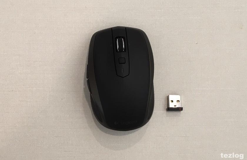 logicool MX1500 MXAnywhere2 ワイヤレスモバイルマウスと付属のUSB接続Unifyingレシーバ