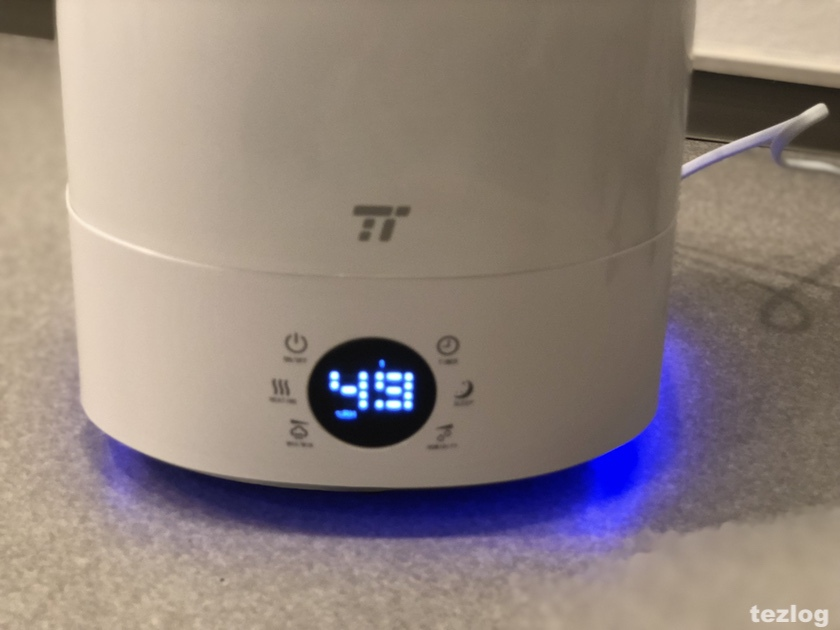 TaoTronics 加湿器 tt-ah007 液晶表示