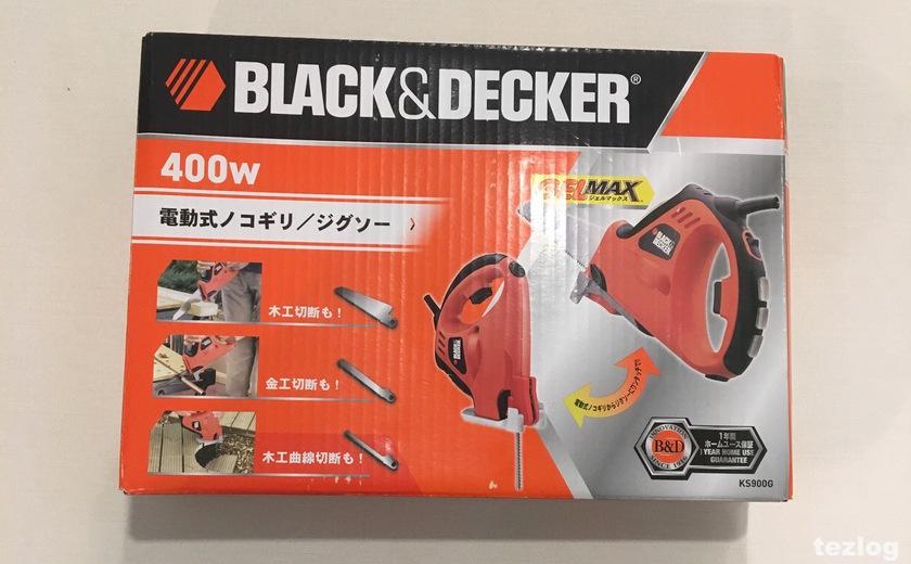 BLACK&DECKER(ブラックアンドデッカー) 電動式ノコギリ・ジグソー KS900G パッケージ