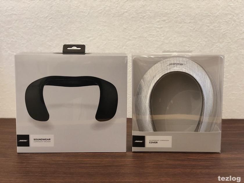 Bose ウェアラブルスピーカー SoundWear Companionとオプションのカバー ヘザーグレー