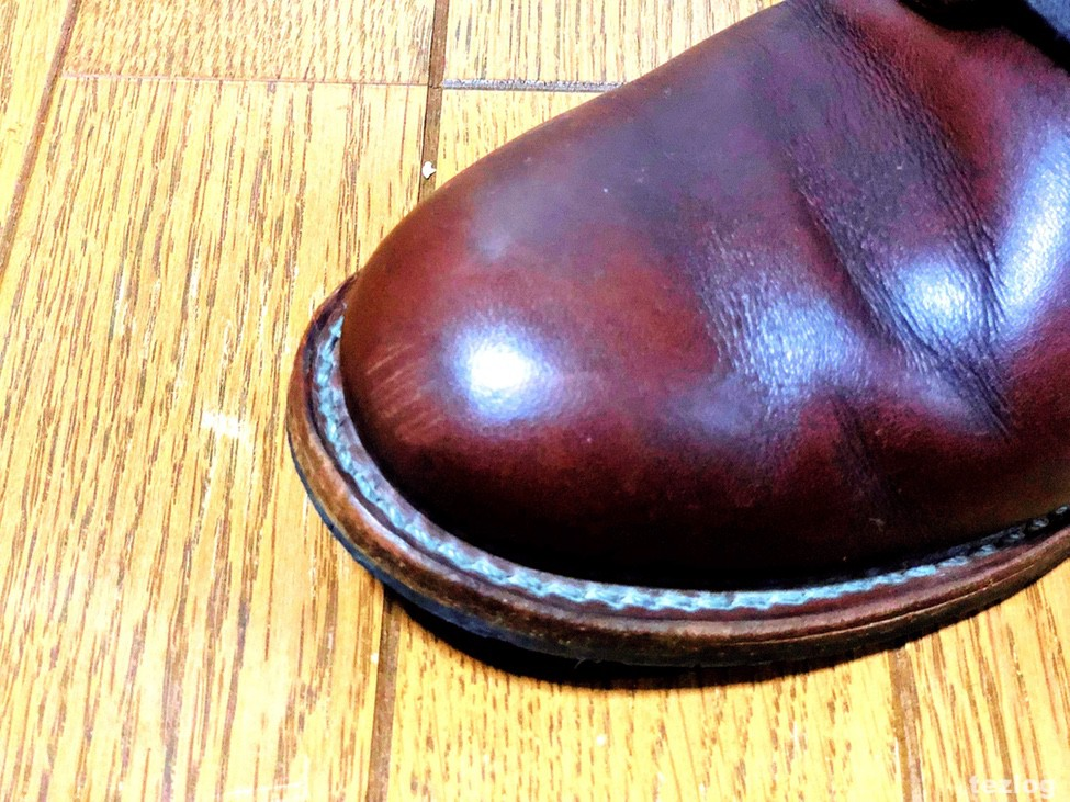 RED WING BECKMAN ベックマン 手入れ つま先の擦れ傷