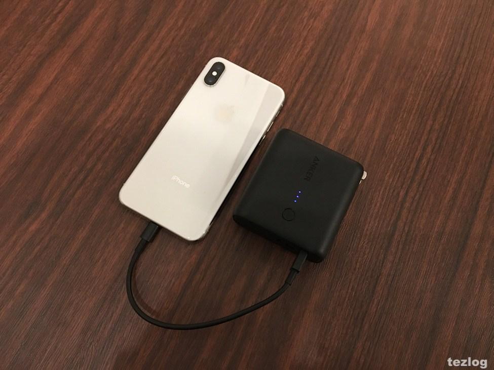 Anker PowerCore fusion 5000でiPhoneXを充電