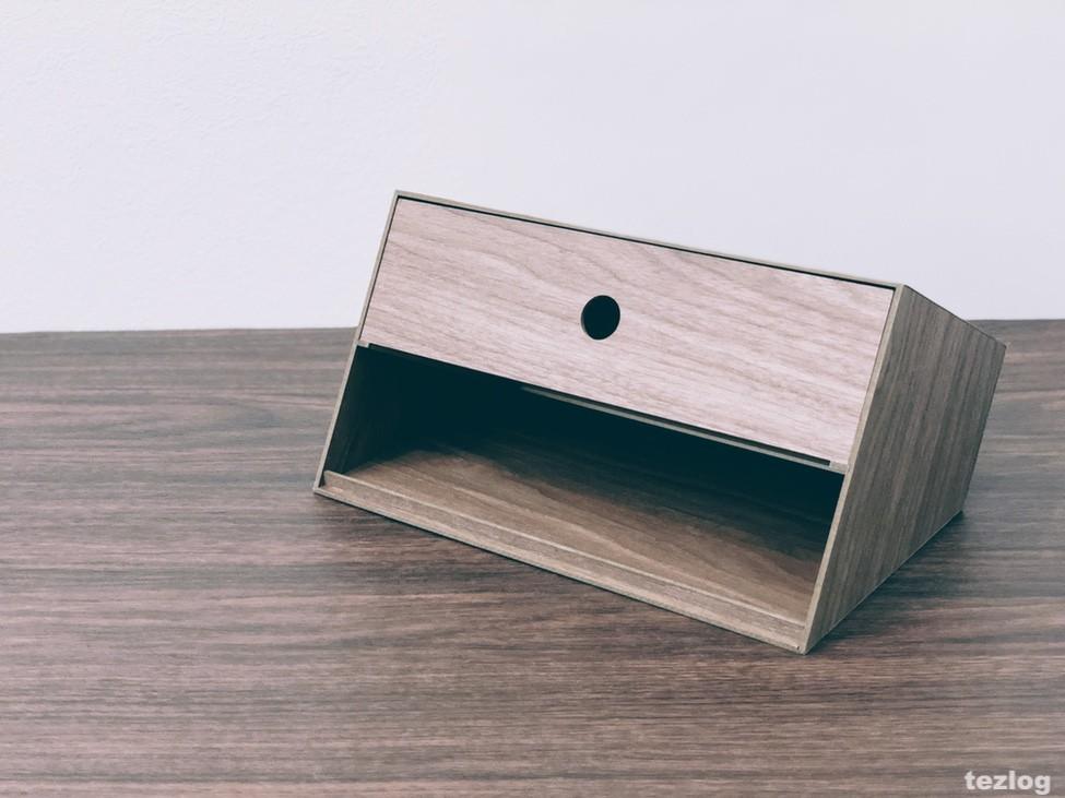 Bosk ボスク ティッシュボックス 裏側の小物入れ