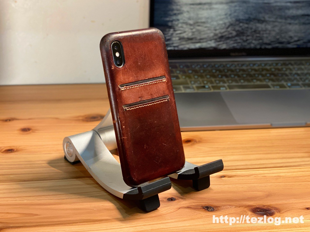 Twelve South Relaxed Leather for iPhoneの経年変化 2年2ヶ月使用
