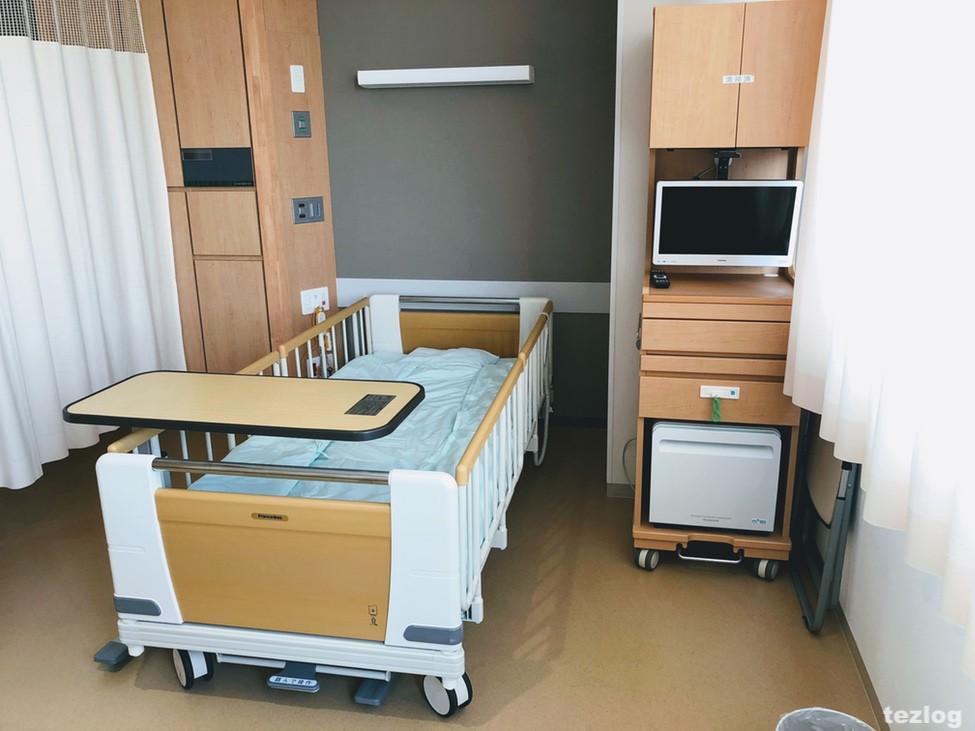 入院した病室