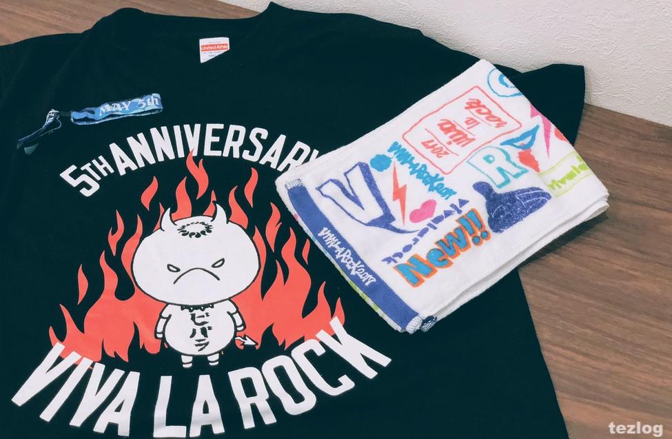 VIVA LA ROCK 5周年Tシャツ