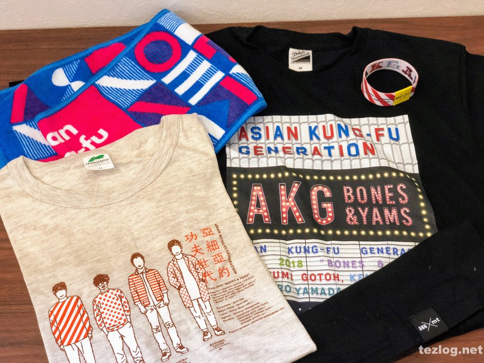 ASIAN KUNG-FU GENERATION Tour 2018「BONES & YAMS」グッズ