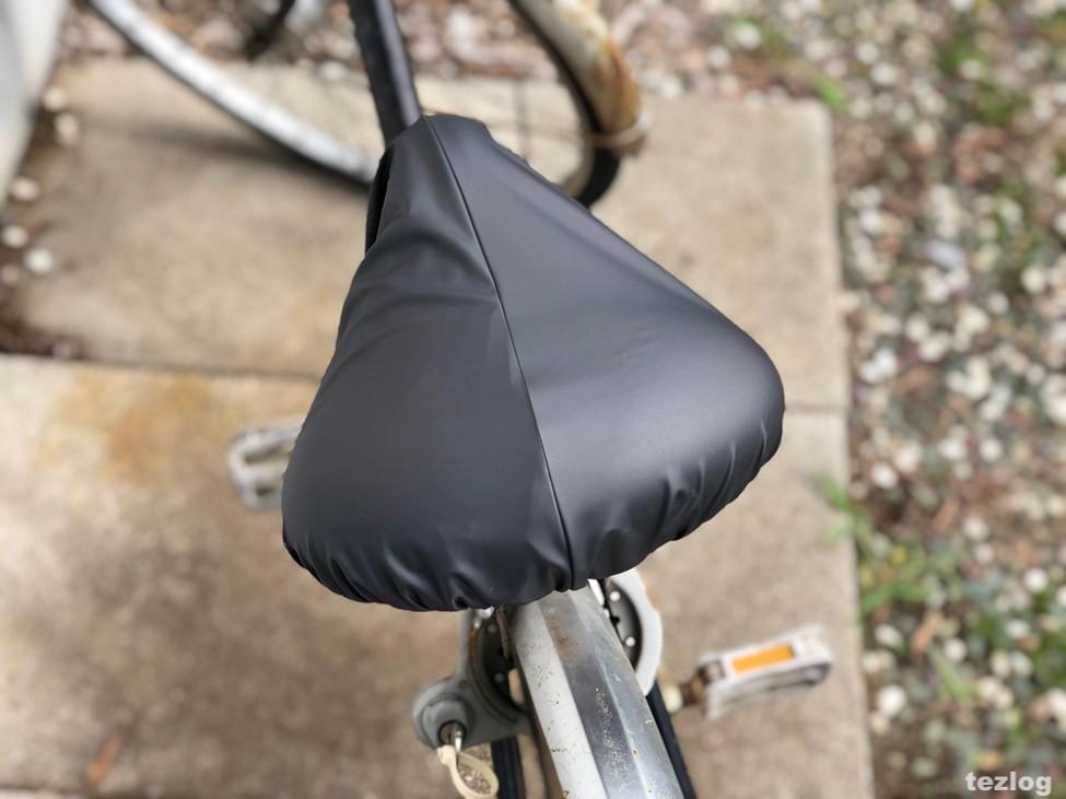 雨対策サドルカバー めくりなはれ 実際に自転車に付けて使い方を紹介 1