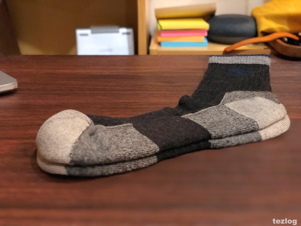 生涯保証で交換してもらったダーンタフの靴下