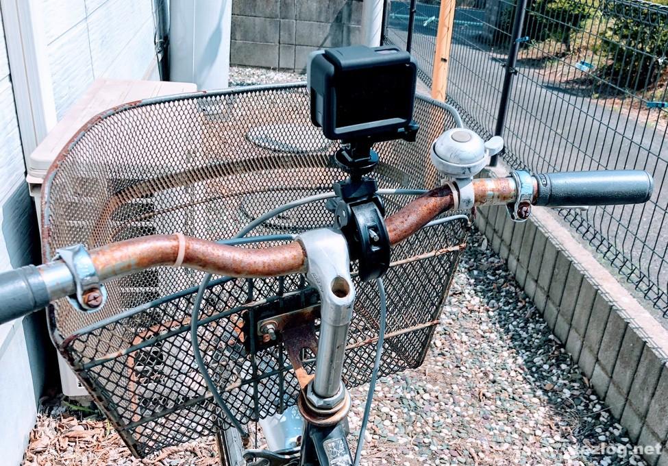 自転車にBalckcase 自転車用GoProホルダーでGoProを装着