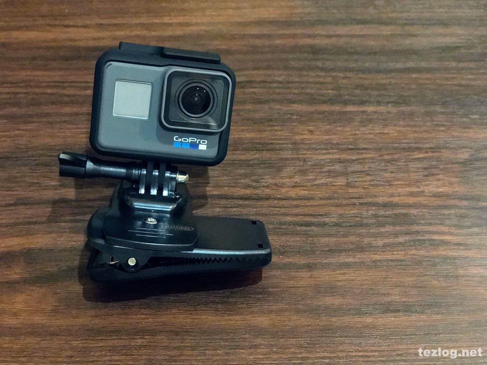 GoPro Hero6とGLIDER クリップ式マウント