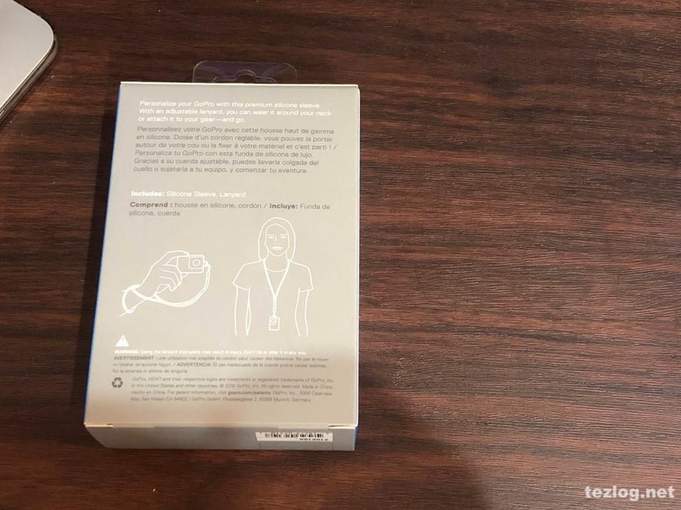 GoPro スリーブ+ランヤード ブラック ACSST-001 パッケージ裏面説明