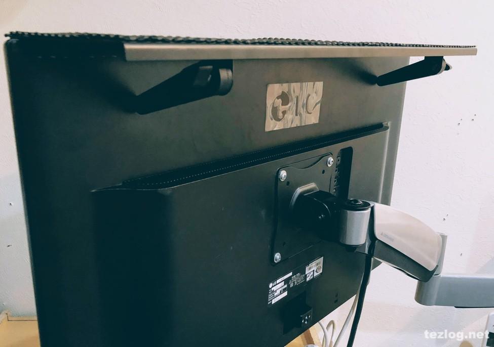 サンワサプライディスプレイ上部用収納台アーム 設置の仕方