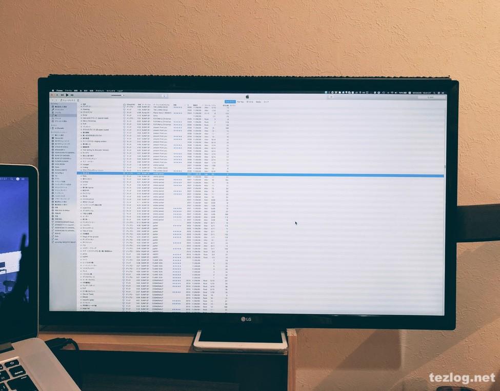 Macアプリ ウインドウの移動・リサイズ Spectableでウインドウを画面いっぱいにリサイズ。