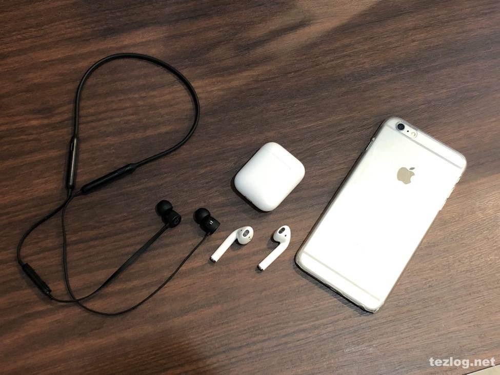 AirPodsとBeatsXとiPhone6sPlus