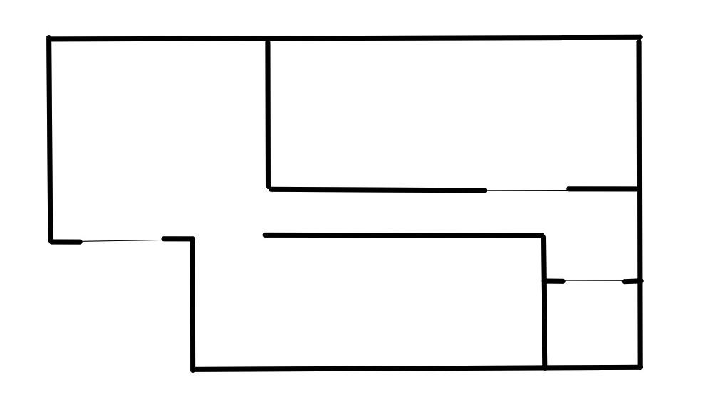 ロボット掃除機 Eufy RoboVac11Sを使用している事務所の簡単な見取り図