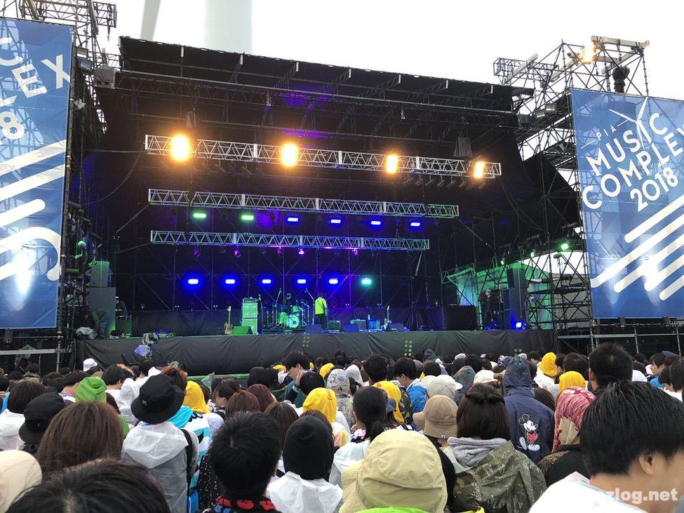 ぴあフェス2018 雨のフェスの雰囲気