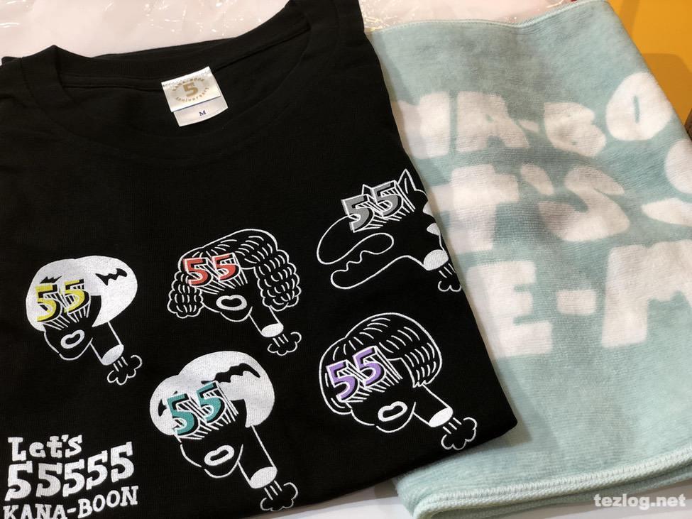 KANA-BOON ワンマンツアー Let's go QNE-MAAN グッズのTシャツとタオル