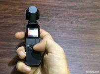 Osmo Pocketの電源が入って撮影待機中に。