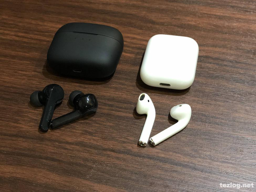 ANKER soundcore Liberty Air 完全ワイヤレスイヤフォンとAirPodsを比較