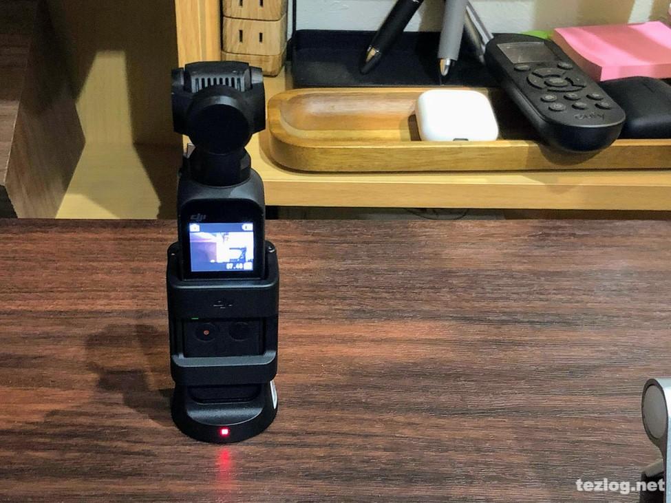 Osmo Pocket純正のアクセサリーマウントではコントローラーホイールと同時に使えない