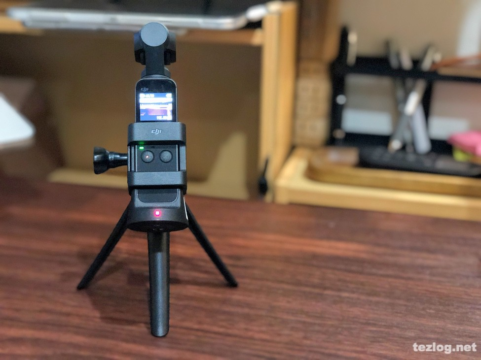 OsmoPocketにGoPro用3Wayを三脚で使用する