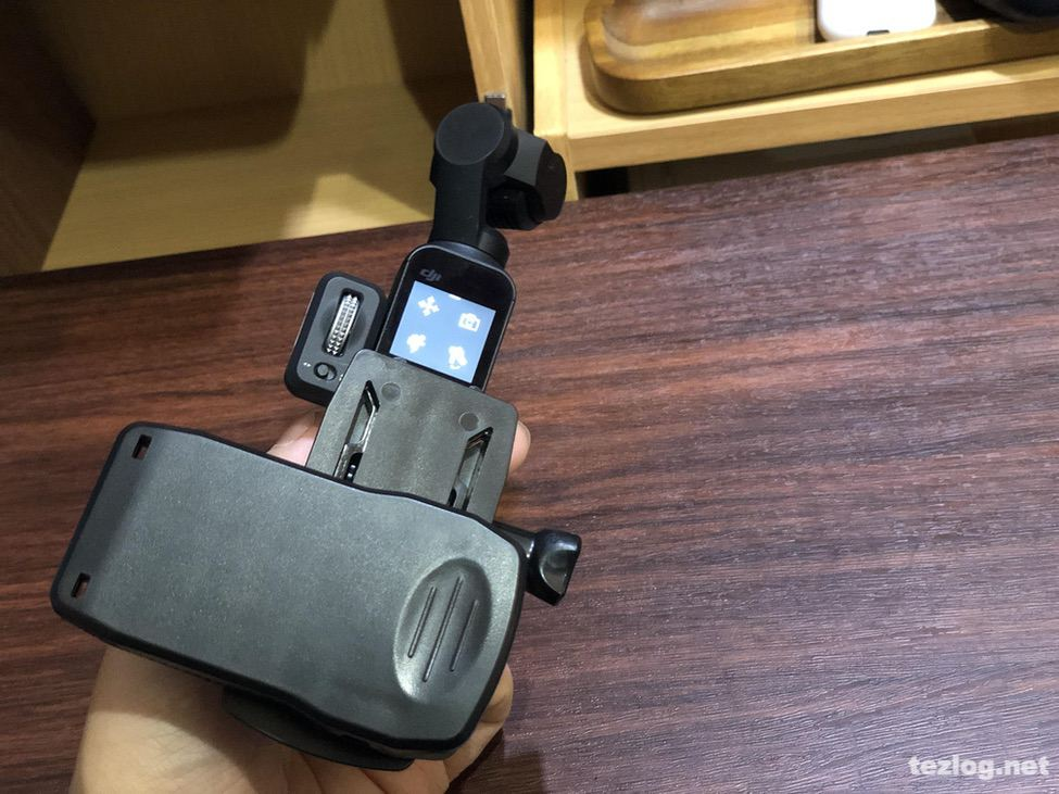 STARTRC Osmo Pocket用アクセサリーブラケットにクリップを取り付け