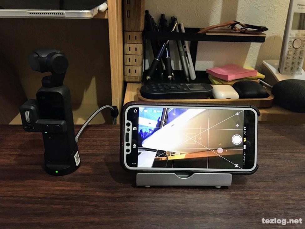 OsmoPocket ワイヤレスモジュールをつけて充電しながら無線で撮影出来る