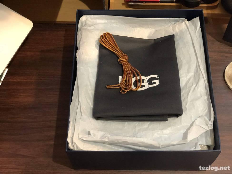 UGG メンズブーツ 箱を開封