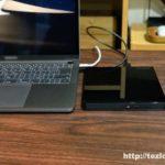 IO-DATA USB-C対応のポータブルブルーレイドライブ BRP-UT6CKをMacBook Pro(2018)にUSB-Cケーブルで接続