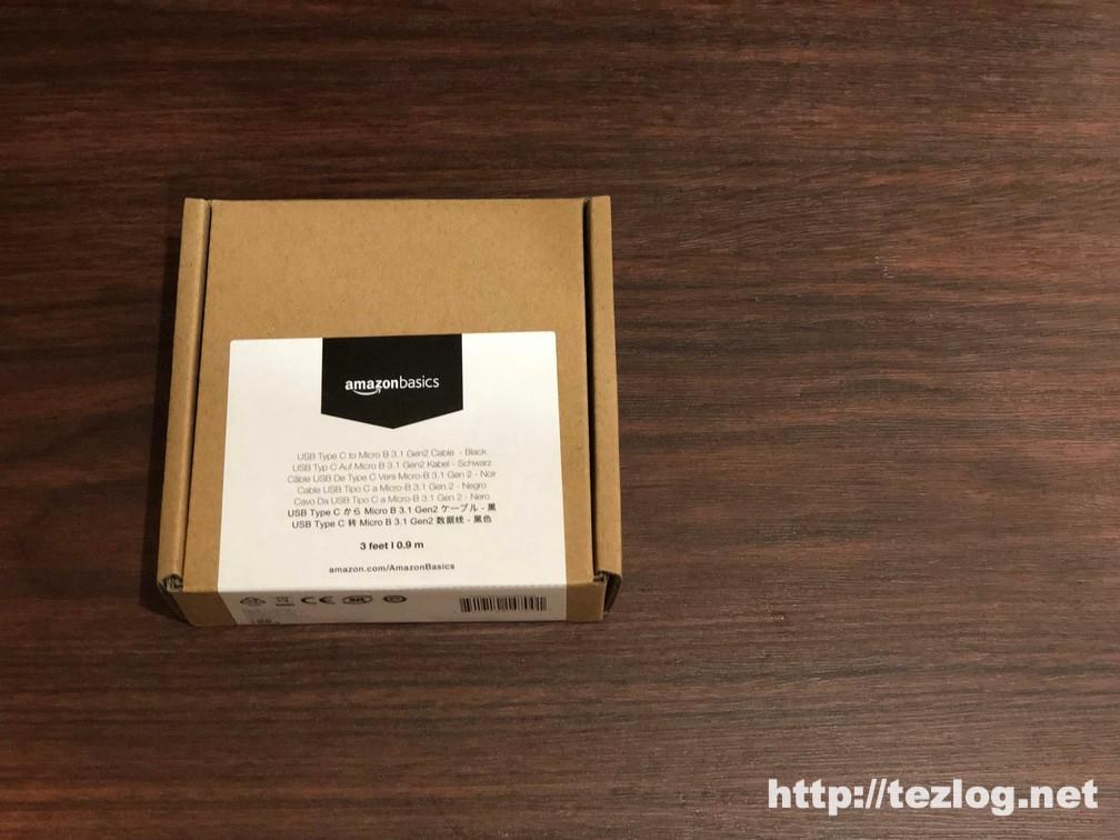 Amazonベーシック USB-C to Micro USB-B 3.1gen 0.9m ブラック