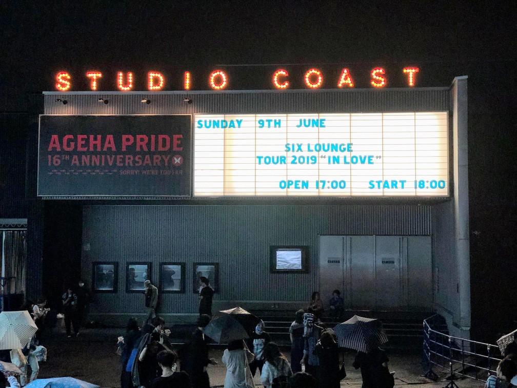 "SIX LOUNGE TOUR 2019 ""in LOVE"" 新木場STUDIO COAST 2019年6月9日"