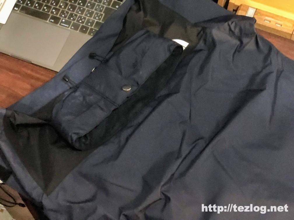 ノースフェイス マウンテンレインテックスジャケット NP11914 を付属のポーチに収納 入れ方