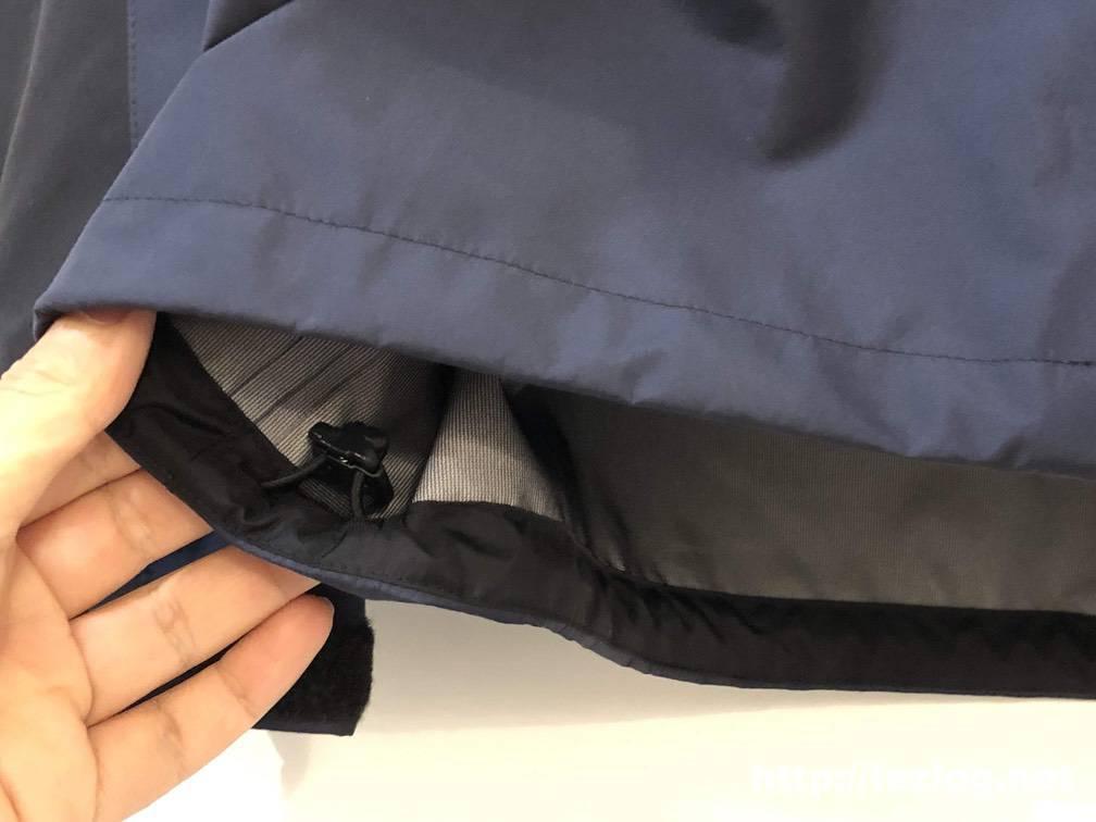 ノースフェイス マウンテンレインテックスジャケット NP11914 ウエスト部分 ドローコード