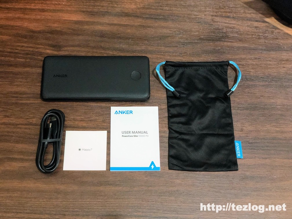 Anker PowerCore Slim 10000 PD 付属品一式