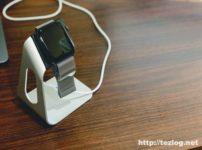 Moobom Apple Watch 充電スタンド アルミニウム製 使用風景