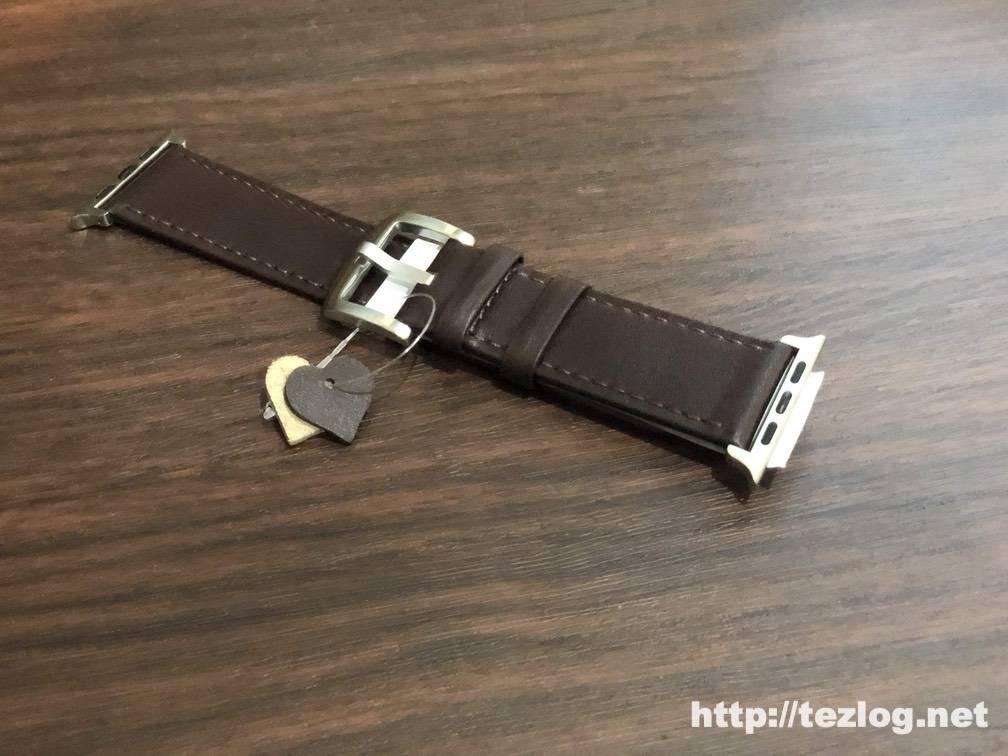 FRESHCLOUD Apple Watch レザーベルト コーヒーブラウン