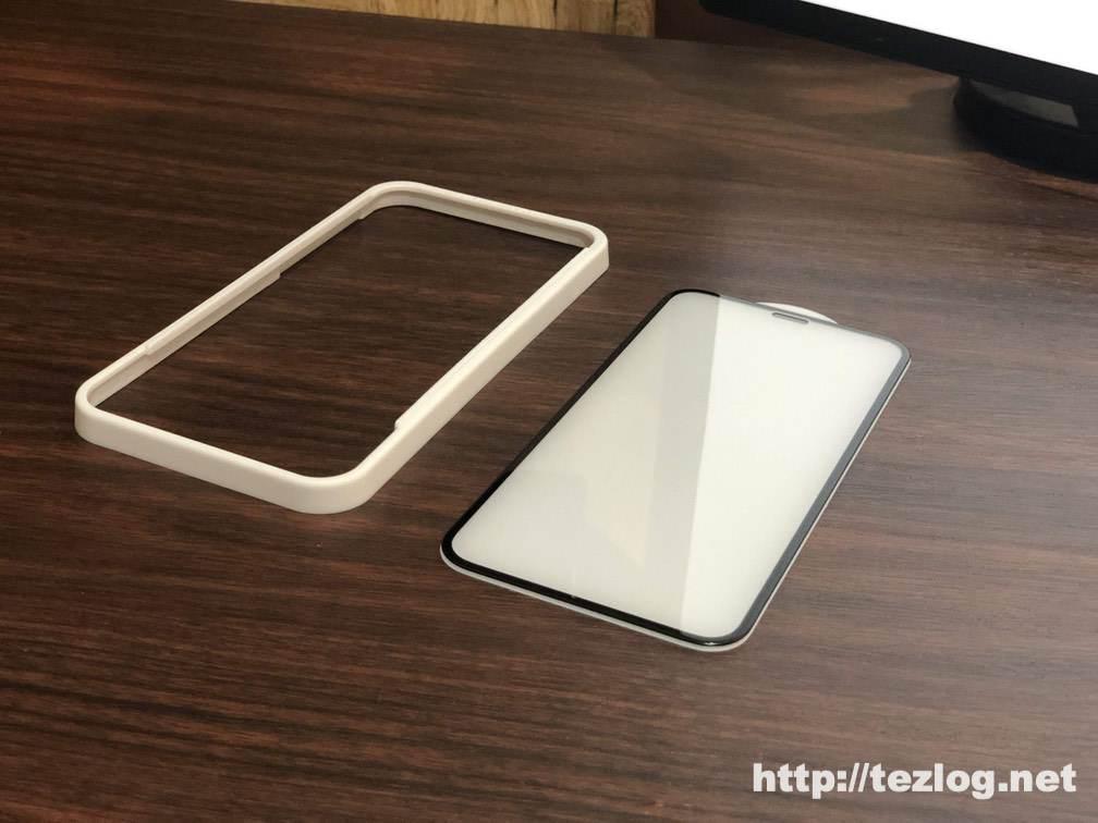 iPhone 11 Pro 用ガラスフィルム Nimaso ガイド枠付き全面保護フィルム