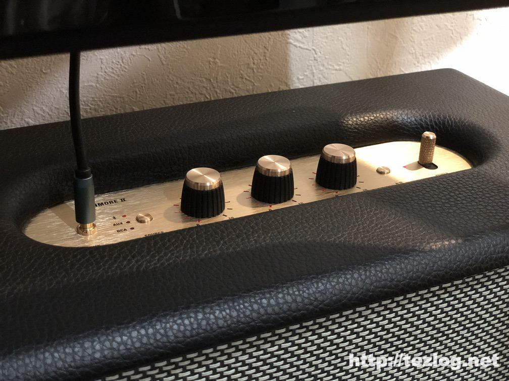 Marshall スピーカー STANMORE Ⅱ BLUETOOTH を有線で接続