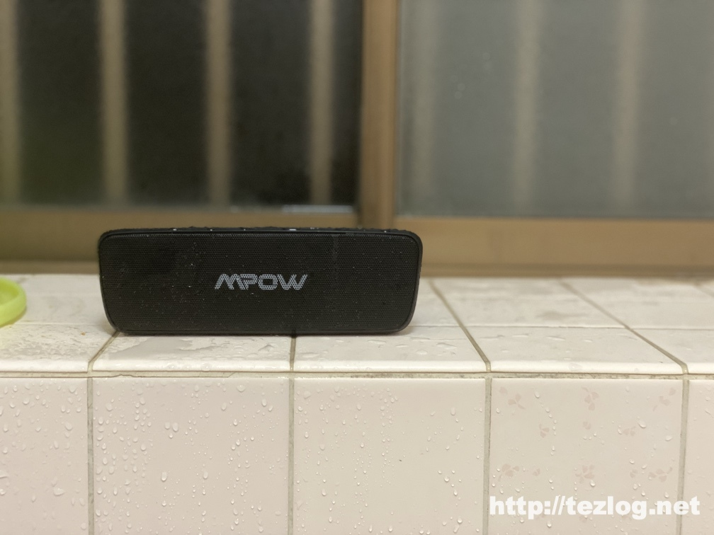 Mpow Soundhot R6 bluetoothスピーカー お風呂での使用風景