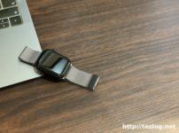 Apple Watch Series5 スペースグレイ ミラネーゼループ シルバー