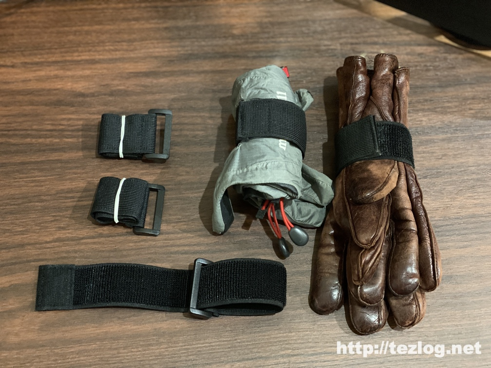 T&B 固定ベルト 3.8x30cm マジックテープ式 バンド バックル付き 伸縮 5個入りで手袋をまとめたりアイデア次第で用途豊富