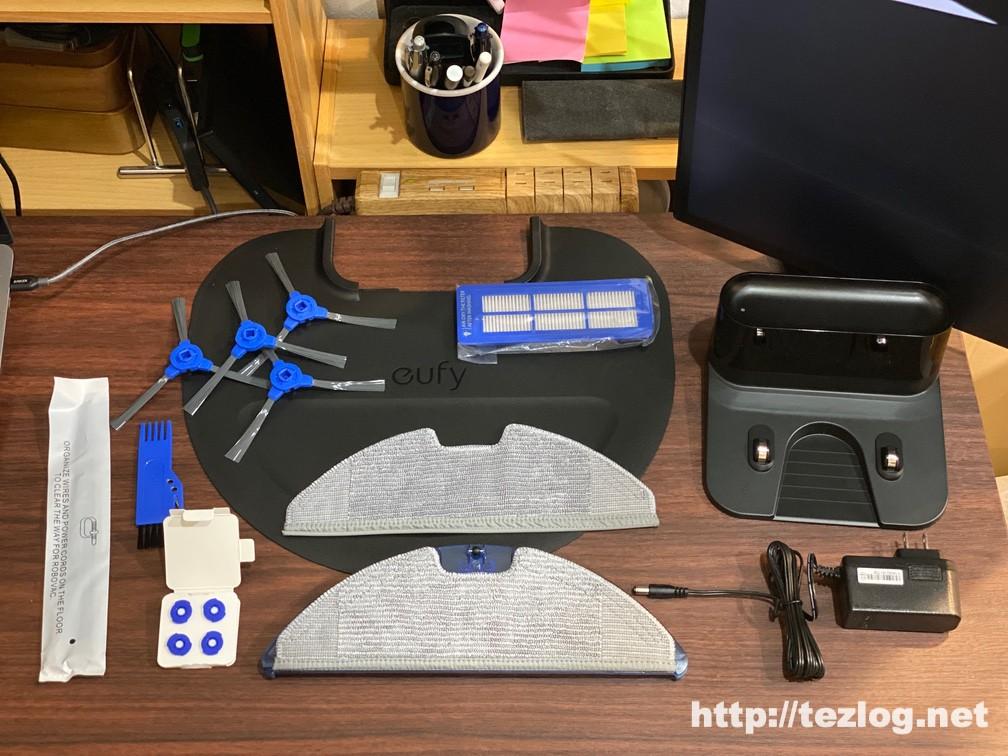 Eufy RoboVac G10 Hybrid 付属品一式