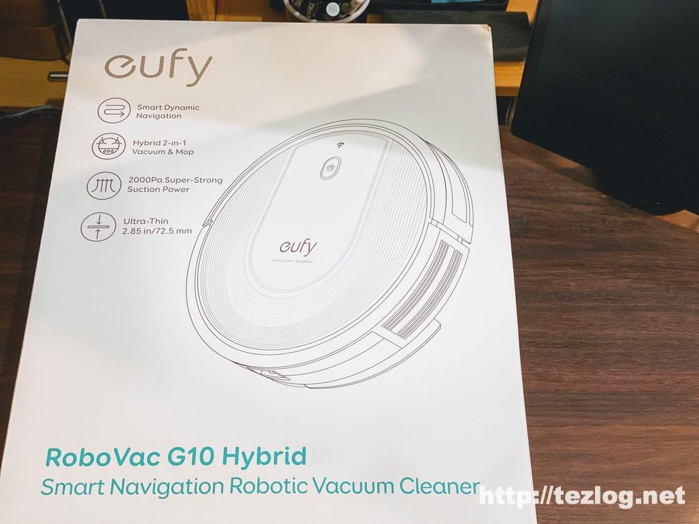 Eufy RoboVac G10 Hybrid パッケージ