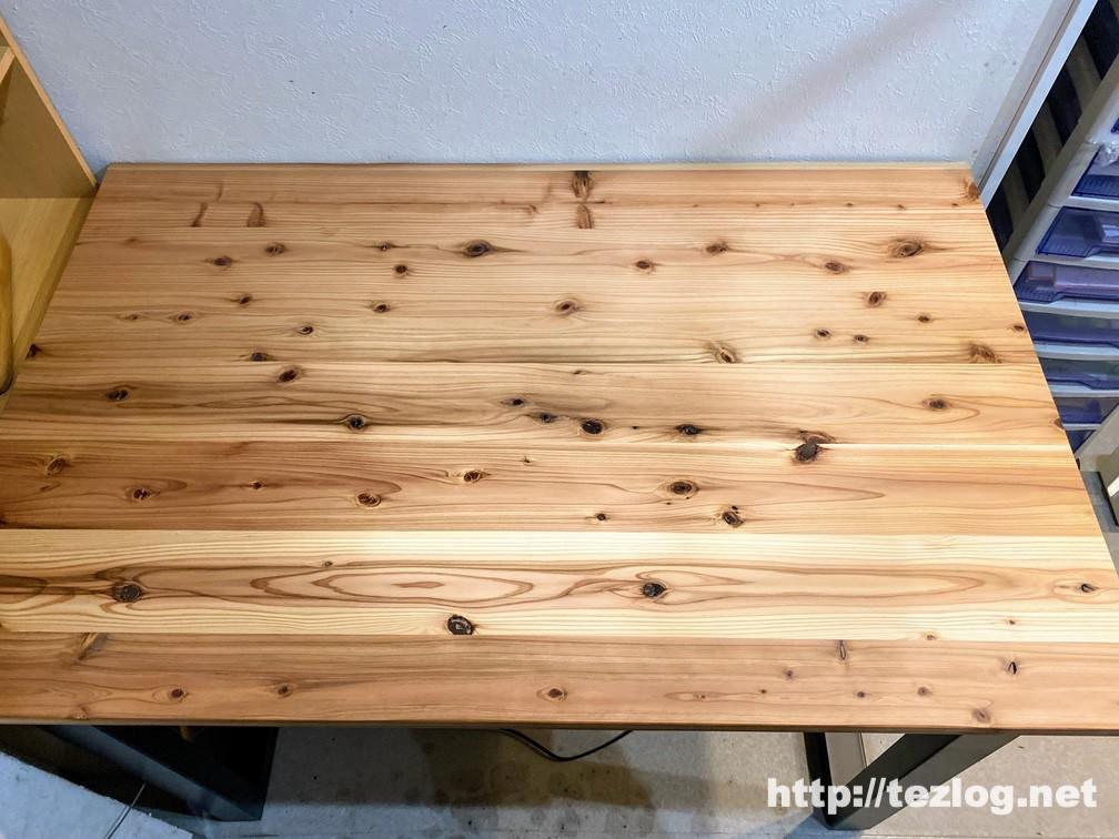 「かなでもの 」杉無垢材とアイアン脚のテーブルが完成