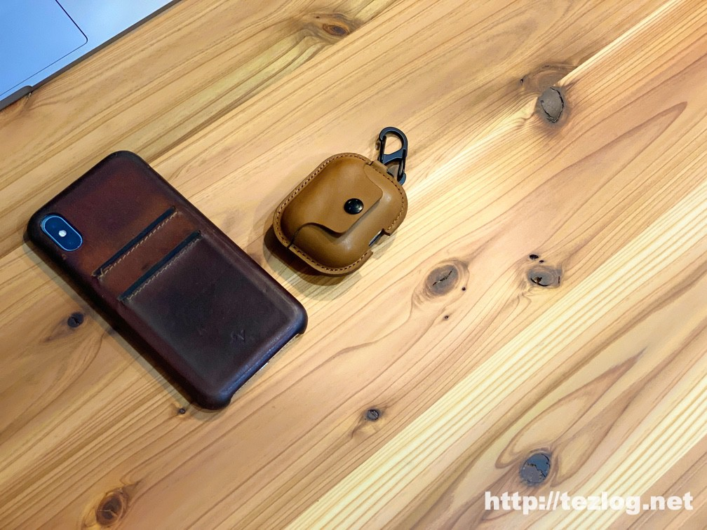 Twelve South AirSnap Pro for AirPods Pro レザーケースと1年半以上使ったTwelve South Relaxed Leather for iPhoneX