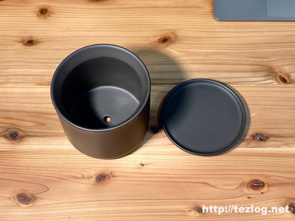 かなでものグリーン 「素材」×「デザイン」 シンプルな鉢 シリーズ Black 2〜4号鉢用