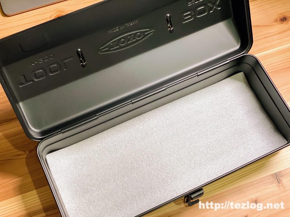 TOYO スチール製 山型工具箱 Y-350 黒の中